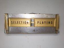 SEEBURG DS160 JUKEBOX SELECTION PLAYING INDICATOR ASSEMBLY -  JUKE BOX