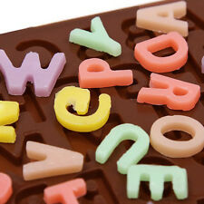 Silicone Letter Alphabet Pudding Bakeware Mould Cake Chocolate Ice Maker Mold