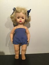 Doll Tiny Terri Lee with chick yellow hair in swimsuit1950s