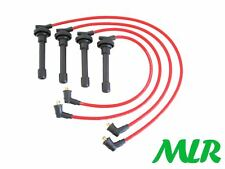 Rosso 8 mm Silicone Accensione HT Lead ACCORD PRELUDE 2.2i 16 V 2.3i CIVIC MLR. un