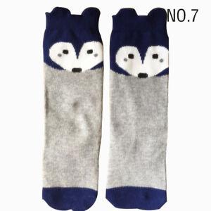 27 Cute Styles Cartoon Cat/Fox/Panda Children Kids Knee High Socks/Leggings Girl