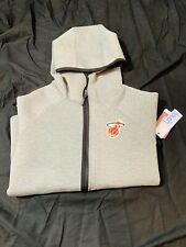 Touch by Alyssa Milano NBA Miami Heat Drop Kick Jacket Small Heather Grey New