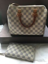 Louis Vuitton Damier Azur Speedy 25 + FREE WALLET US ship