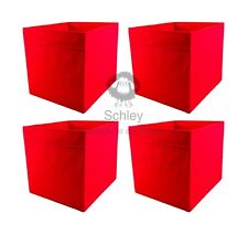 DRÖNA, rot, 4 Stück, IKEA, KALLAX, Fach, Box, NEU, OVP, Aufbewahrung, 33x38x33cm