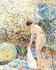 Cherry Blossoms by Frederick Frieseke Art Nude Girl Spring Trees 8x10 Print 0437
