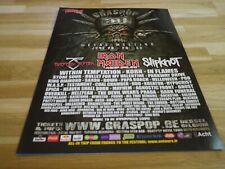 IRON MAIDEN - Publicité de magazine / Advert !!! GRASPOP 3 !!!