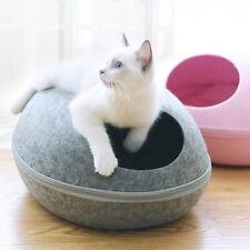 Cat House Nest  Zipper Detachable Cushion Dog Egg Shape cave sleeping kennel