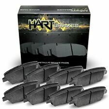 For 2009-2012 Lexus IS250 Hart Brakes Front Rear Semi-Metallic Brake Pads