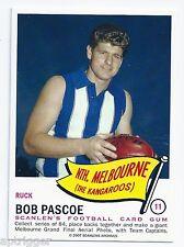 1966 Scanlens Archives Flag Series (11) Bob PASCOE North Melbourne ****