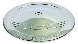 """Chrome Stamped Steel """" 350 """" Logo 14"""" Round Air Cleaner Top / Lid Only Chevy SBC"""