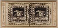 Pompei Mosaico Italia Sommer & Behles Foto Stereo L53S1n29 Vintage Albumina