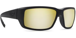 COSTA Fantail Sunglasses Sunrise / Yellow Silver Mirror 580 P Blackout Frame