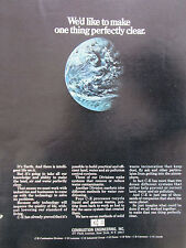 4/1972 PUB COMBUSTION ENGINEERING EARTH TERRE WATER AIR POLLUTION ORIGINAL AD