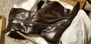 females franco sarto 8 1/2 shoes brown leather ankle boots