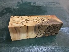 SPALTED HACKBERRY DELUXE KNIFE BLOCK/SCALES/ CALLS/ PEN BLANKS--H---32