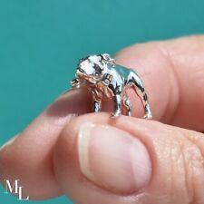Sterling Silver English Bulldog Jewellery Charm