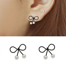 Women Flower Charms Crystal Rhinestone Leaves Tassel Ear Stud Earrings 1 Pair
