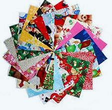 "80 5"" Christmas MEDLEY Quilting Fabric Squares Beautiful #2 FREE SHIPPING"