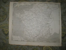 SUPERB ANTIQUE 1805 FRANCE COPPERPLATE MAP PARIS WINE AREA INTEREST RARE NR