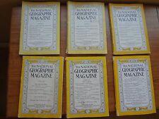 National Geographic Magazine Dec 1929 1956 May 1930 Jan 1937 Apr 1949 Mar 1950