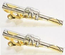clasps pins silver gold tone 2 tie bar clips Lot Elephant