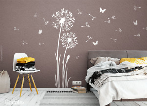 Wandtattoo Pusteblumen Wandasticker Aufkleber Löwenzahn Blumen Pusteblume w332C
