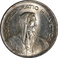 Switzerland 5 Francs 1948 KM #40 Unc