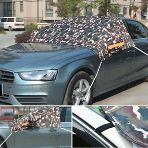 Camouflage Car Snow Cover Waterproof Sunscreen Protecting UV  Fading Universal