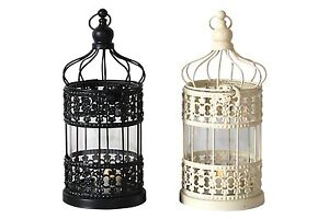 Metal Hanging Birdcage Candle Holder Fairytale Lantern Candlestick  Decor