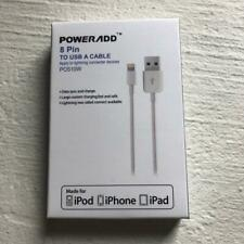 POWERADD Lightning Long Charger Cable For iPhone 5 6 7 8 XS MAX 1M Fast Charge