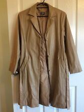 VINTAGE MISS SHOP Trench Style Coat Size 10 S Caramel Long Jacket