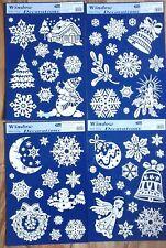 Fensterbilder Weihnachten Schneeflocke Glocke Engel Mond Kerze Tanne Fensterdeko