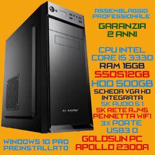 COMPUTER PC FISSO DESKTOP INTEL Core i5-3330 RAM 16GB SSD512GB HDD500GB USB3.0