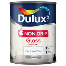 Dulux Non Drip Gloss Paint For Wood & Metal Interior & Exterior - White - 750Ml