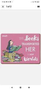 Roald Dahl Matilda Pink Cork Backed Placemat Dinner Mat Kids Childrens Gift Idea