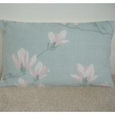 "Laura Ashley Magnolia Grove Duck Egg 20""x12"" Oblong Bolster Cushion Cover Pink"