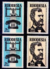 Rhodesia 1976 MNH 2v, Graham Bell, Invented Telephone, Communication, 2 sets