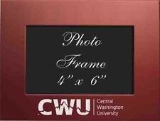 Central Washington University  - 4x6 Brushed Metal Picture Frame - Red