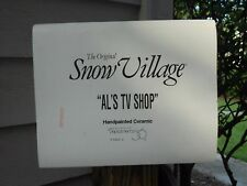 DEPARTMENT 56 SNOW VILLAGE AL'S TV SHOP NIB