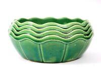 Art Deco McCoy USA Art Pottery Green Bowl Vase Circa 1920