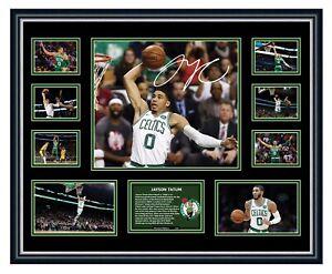 JAYSON TATUM BOSTON CELTICS NBA 2019 SIGNED PHOTO L/E FRAMED MEMORABILIA