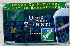 7-11 Store Slurpee Machine Translite Advertising Poster Sprite Obey Your Thirst