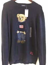 RARE RALPH LAUREN POLO WEEKEND BEAR USA FLAG SWEATER SZ XL NWT SPORT 1992 VTG