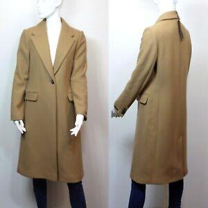 M&S AUTOGRAPH Italian WOOL & CASHMERE Long Tailored COAT ~ Size 10 ~ CAMEL