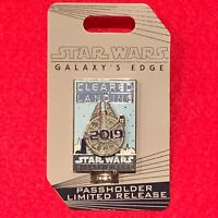 Disney Star Wars Galaxy's Edge Opening Day Falcon Passholder Limited Release Pin