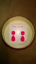 14kt Gold Kate Spade New York Drop Earring Flo-Pink Neon Ultra Violet BLACKLIGHT