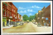 CANADA~1950's AYLMER Ontario ~ TALBOT ST. ~ DOWNTOWN ~ DRUG STORE ~ CAFE