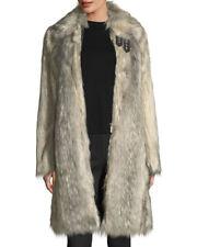 NWOT  HELMUT LANG  $995   FAUX WOLF FUR  GREY COAT SIZE  XS