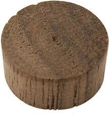 "100 Pcs - 3/8"" Walnut Wood Screw Hole Plugs Flat Head Buttons - Platte River"