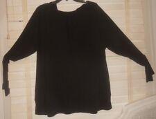 NWOT Rundholz Black Label ~ Art to Wear ~ Quirky Black Balloon Tunic Shirt ~ M L